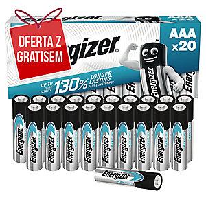 Baterie alkaliczne Energizer MAX PLUS AAA, 20 szt.