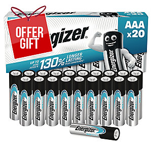 Energizer Alkaline Max Plus AAA Battery - Pack of 20