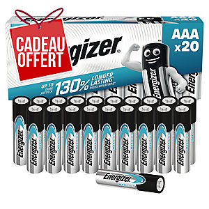 Pack 20 piles Energizer alcaline eco advanced AAA/LR3