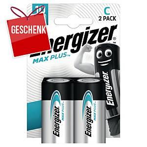 Energizer Alkaline Batterien MAX PLUS, 2 x C