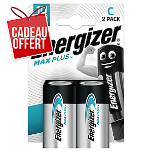 Pack 2 piles Energizer alcaline advanced C/LR14