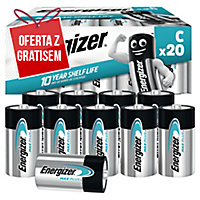 Baterie alkaliczne Energizer Advanced C, 20 szt.