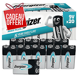 Pack 20 piles Energizer alcaline advanced 9V