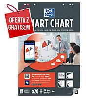 Blok do flipchartów OXFORD Smart Chart, gładki, 3 sztuki