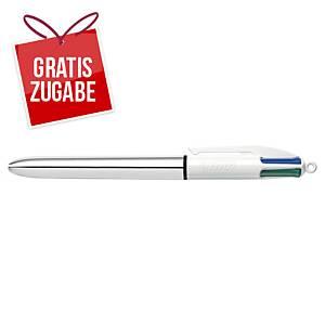 4-Farbkugelschreiber BIC 919380, 4 Colours Shine, Strichstärke: 0,4mm