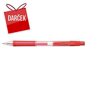 Guľôčkové pero Lyreco G-Roll, červené, 0,7 mm