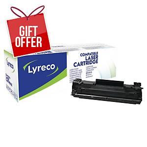 LYRECO LAS CART COMP HP LJ CF283X BLK