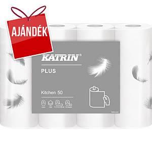 Katrin Plus 50 konyhai papírtörlők, 2-rétegű, 4 tekercs/csomag