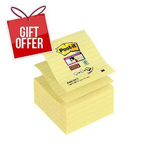 Post It R440-Sscy Super Sticky Z-Note 101X101mm Ruled Yellow - Pack of 5