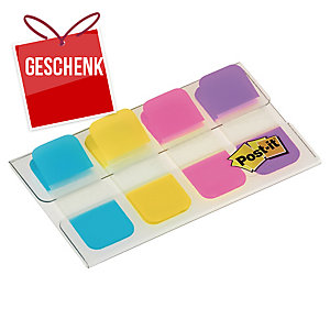 Post-it Index Strong 676-ALYR, 16x38 mm, 10 Blatt, Packung à 4 Stück