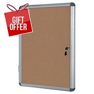 Bi-Office Internal Cork Board Glazed Case 9xA4