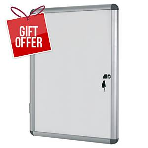 Bi-Office Internal Magnetic Whiteboard Glazed Case 9xA4