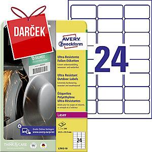 Ultra odolné etikety Avery Zweckform, rozmer 45,7 x 21,2  model L7912-10
