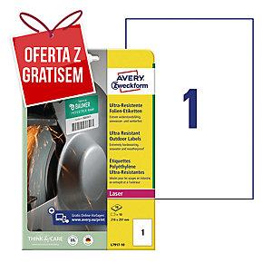 Etykiety Ultra Resistant Avery Zweckform, 210x297mm, białe, 10 etykiet*