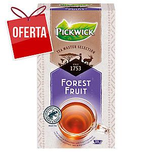 Caixa de 25 saquetas de infusão de chá preto aromatizado com frutos do bosque