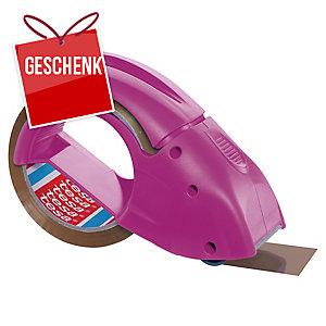 tesapack® 51113 Pack'n Go Packband-Abroller rosa