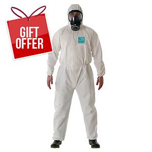 ANSELL ALPHATEC 2000 disposable coverall, size XL, white