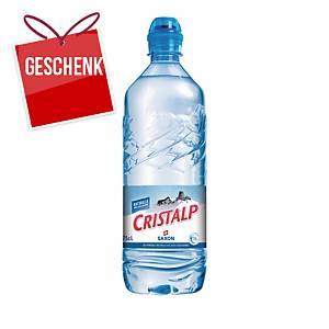 Cristalp Mineralwasser ohne Kohlensäure 75 cl, Packung à 6 Flaschen