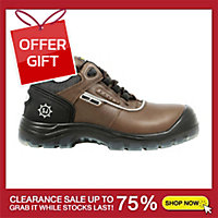 SAFETY JOGGER PLUTO SAFETY SHOES 44 BROWN