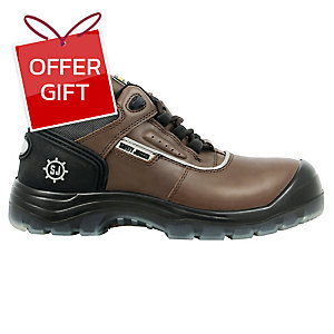 SAFETY JOGGER PLUTO SAFETY SHOES 46 BROWN