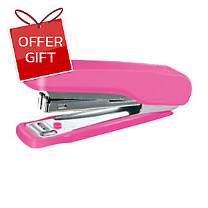MAX HD-10N HALF-STRIP STAPLER PINK