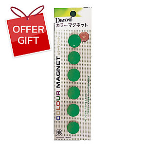 DM-20 MAGNETIC BEANS ROUND 20MM GREEN - PACK OF 6