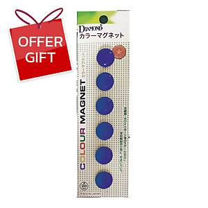 DM-20 Magnetic Beans Round 20mm Blue - Pack of 6