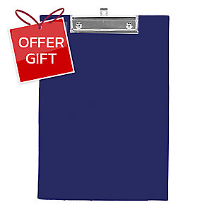 ORCA 102 PVC PLASTIC COVERED CLIPBOARD A4 BLUE