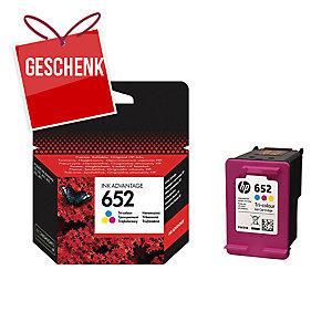 Tintenpatrone HP 652 F6V24AE CMY für Inkjetdrucker