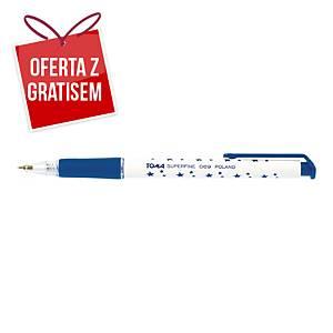 Automatyczny długopis TOMA 069 SuperFine, niebieski