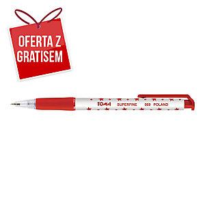 Automatyczny długopis TOMA 069 SuperFine, czerwony
