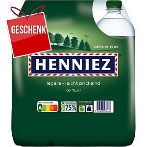 Henniez grün Mineralwasser mit wenig Kohlensäure 1 l, Packung à 6 Flaschen
