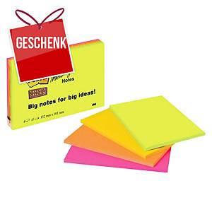 Haftnotizen Post-it Super Sticky, 152x101 mm, Pk.à 4 Stk