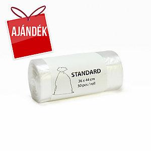 Alufix szemeteszsák zárószalag nélkül, fehér, 10 l, 50 zsák/tekercs