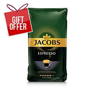 Jacobs Espresso Coffee Beans, 1kg