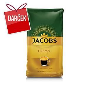 Zrnková káva Jacobs Crema, 1 kg