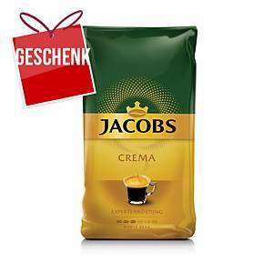 Jacobs Crema Bohnenkaffee, 1 kg