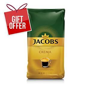 Jacobs Crema Coffee Beans, 1kg