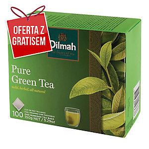 Herbata zielona DILMAH, 100 torebek bez zawieszki