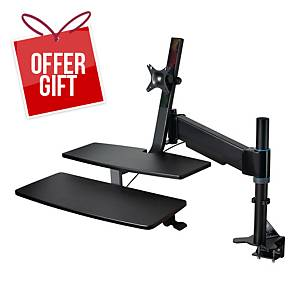 KENSINGTON SIT & STAND WORKSTATION BLK