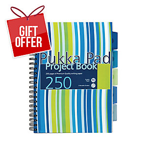 PUKKA PADS PROBA4 PROJECT BOOK A4  RULED BLUE