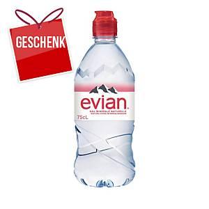 Evian Sport-Cap, Packung à 6 x 0,75 l