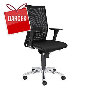 Kancelárska stolička Trix, čierna