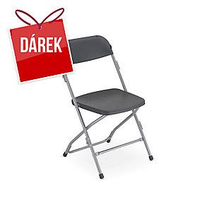 Skládací židle Medina, šedá