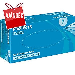 PROTECTS HYGIENIC eldobható latex kesztyű, méret: 10, 90 darab/csomag