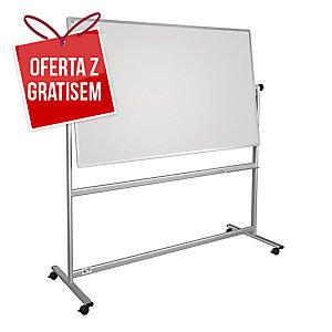 Tablica obrotowo-jezdna 2x3 z powierzchnią lakierowaną, 150 x 100 cm