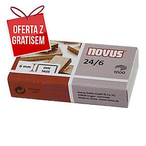 Zszywki miedziane NOVUS 24/6, w opakowaniu 1000 sztuk