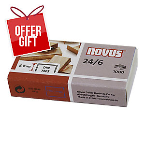 BX1000 NOVUS STAPLES 24/6 COPPER