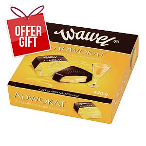 WAWEL CHOCO FILLED CREAM ALCOHOL  430G