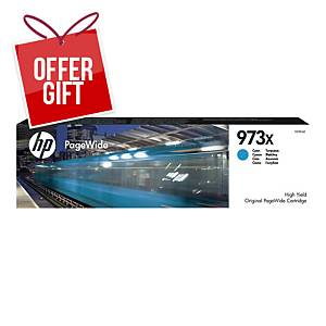 HP 973X High Yield Cyan Original Pagewide Cartridge (F6T81AE)